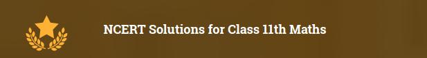 Class 11 maths NCERT solutions