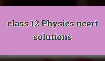 Class 12 Physics NCERT Solution