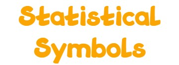 statistical symbols