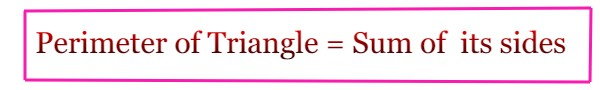 Perimeter of Triangle Formula