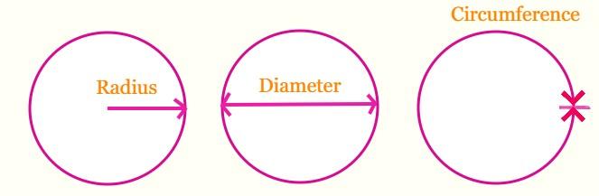 Radius, Diameter, and Circumference
